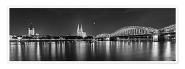 Premium poster Cologne skyline panorama