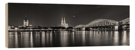 Wood print  Cologne skyline panorama - rclassen