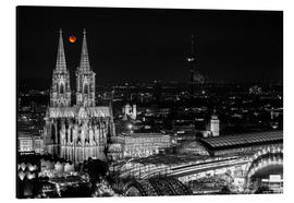 Alu-Dibond  Blutmond over the Cologne Cathedral - rclassen