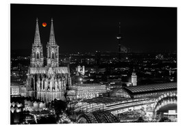 Foam board print  Blutmond over the Cologne Cathedral - rclassen