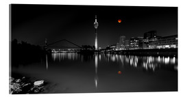 Acrylic glass  Dusseldorf media harbor with Blutmond - rclassen