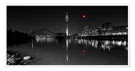 Premium poster  Dusseldorf media harbor with Blutmond - rclassen