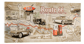 Acrylic glass  Route 66 Map - Georg Huber