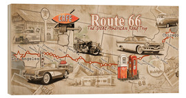 Wood  Route 66 Map - Georg Huber