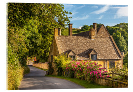 Acrylic print  Cottage in the Cotswolds (England) - Christian Müringer