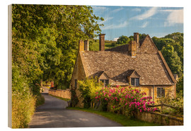 Wood print  Cottage in the Cotswolds (England) - Christian Müringer
