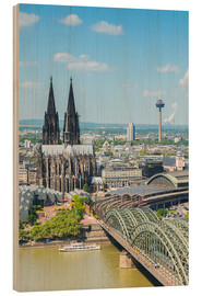 Wood print  Cologne Cathedral (Cathedral of St. Peter) - rclassen