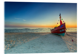Acrylic print  Fishing boat on the Baltic Sea Usedom beach - Dennis Stracke