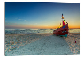 Aluminium print  Fishing boat on the Baltic Sea Usedom beach - Dennis Stracke