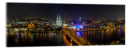 Acrylic glass  Cologne Night skyline panorama - rclassen