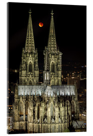 Acrylic glass  Blood moon shines over Cologne Cathedral - rclassen