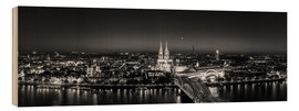 Wood print  Panorama of the Cologne skyline, Germany - rclassen