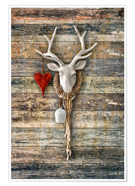 Poster  Deer Heart - ARTSHOT - Photographic Art
