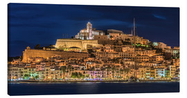 Canvas  Ibiza Spain castle by night - Fine Art Images