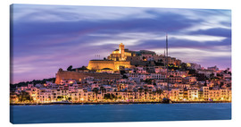 Canvas print  The castle of Ibiza - Fine Art Images