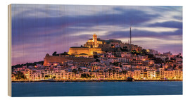 Wood print  The castle of Ibiza - Fine Art Images