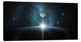 Canvas print  Sunrise in Space - Tobias Roetsch