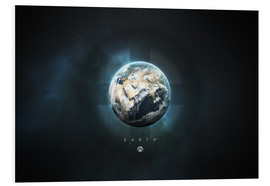 Foam board print  Solar System Earth - Tobias Roetsch