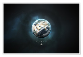 Premium poster  Solar System Earth - Tobias Roetsch