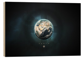 Wood print  Solar System Earth - Tobias Roetsch