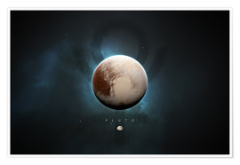 Poster  Solar System Pluto - Tobias Roetsch