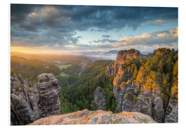 Foam board print  Saxon Switzerland Sunrise - Michael Valjak