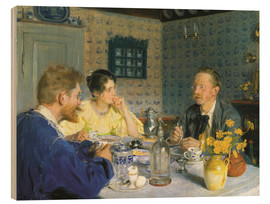 Wood  Kroyer, his wife and Otto Benzon - Peder Severin Kroyer