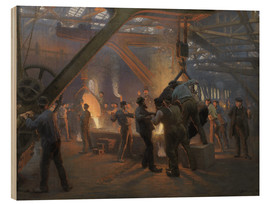 Wood  The iron foundry - Peder Severin Kroyer
