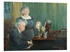Foam board print  Edvard Grieg accompanying his Wife - Peder Severin Krøyer