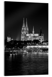 Acrylic glass  Cologne Cathedral at night - rclassen