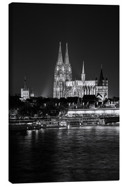 Canvas  Cologne Cathedral at night - rclassen