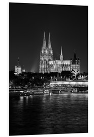 Foam board print  Cologne Cathedral at night - rclassen