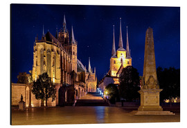 Aluminium print  Cathedral of Erfurt under the stars - pixelliebe