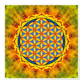 Premium poster Flower Of Life - Autumn Sun
