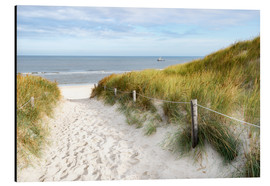 Aluminium print  North Sea beach - Hannes Cmarits