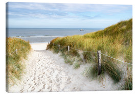 Canvas print  North Sea beach - Hannes Cmarits