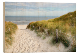 Wood print  North Sea beach - Hannes Cmarits
