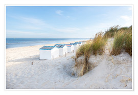 Premium poster North Sea beach, De Koog