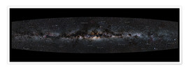 Premium poster  Milky Way Panorama (German labels) - Jan Hattenbach