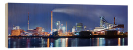 Wood print  ArcelorMittal steel mill Bremen - Tanja Arnold Photography