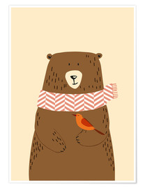Premium poster  Bear in the fall - Sandy Lohß