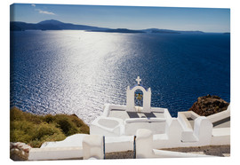 Canvas  Church on the top of the caldera - Circumnavigation