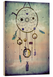 Wood print  Dream Catcher - Sybille Sterk