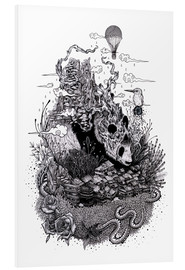 Foam board print  Land of the Sleeping Giant (Ink) - Mat Miller