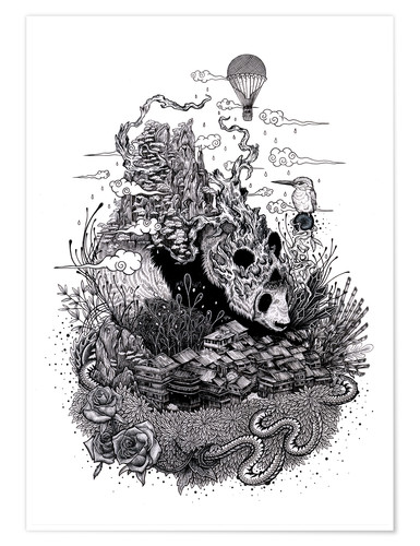 Premium poster Land of the Sleeping Giant (Ink)