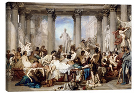 Canvas print  Roman decadence - Thomas Couture