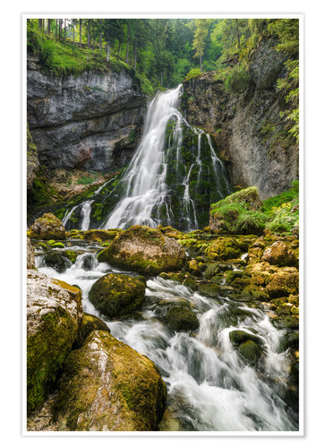 Premium poster Waterfall in Austria