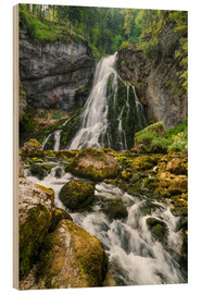 Wood print  Waterfall in Austria - Michael Valjak