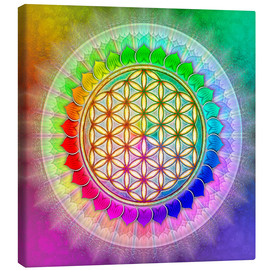 Canvas  Flower of life - rainbow lotus artwork II - Dirk Czarnota
