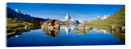 Acrylic print  Swiss mountains with the Matterhorn and Stellisee - Jan Christopher Becke